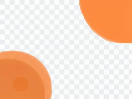 橙色背景框架點