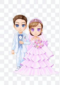 人-婚禮招待會,兩個人依的插圖