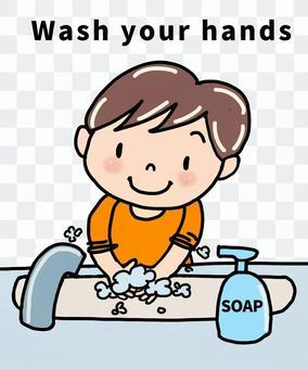 手を洗おう 英語