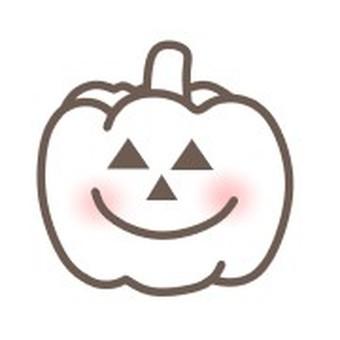 南瓜蔬菜臉微笑插圖透明