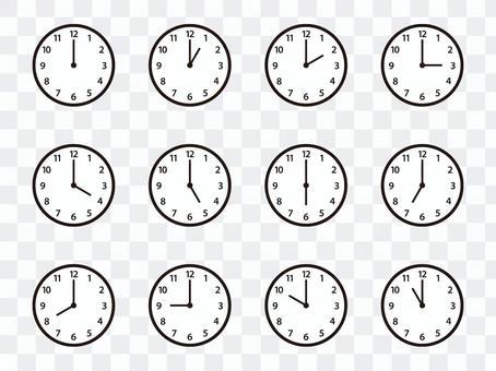 簡單掛鐘(阿拉伯數字)