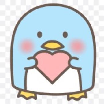 Penguins animal animal face heart