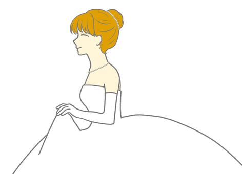 戴珍珠項鍊和頭飾的女人