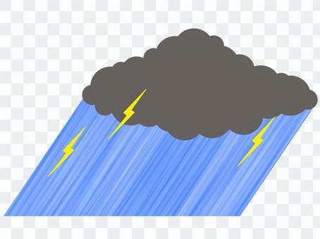 游擊暴雨雷暴天氣Kaminari