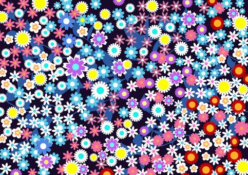 Lively floret background colorful