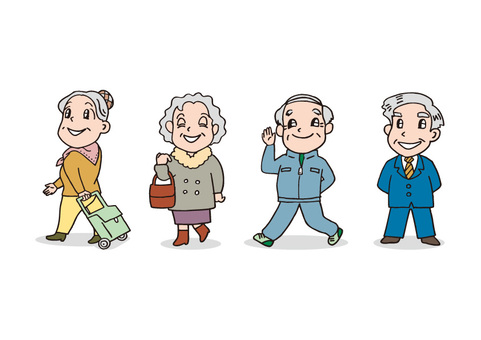 4 old people