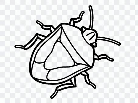Stink bug (line only)