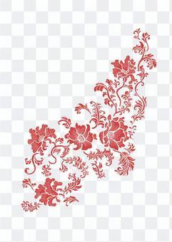 중국 무늬 꽃 무늬