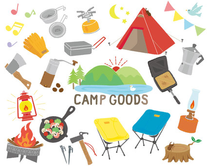 Camp gear illustration