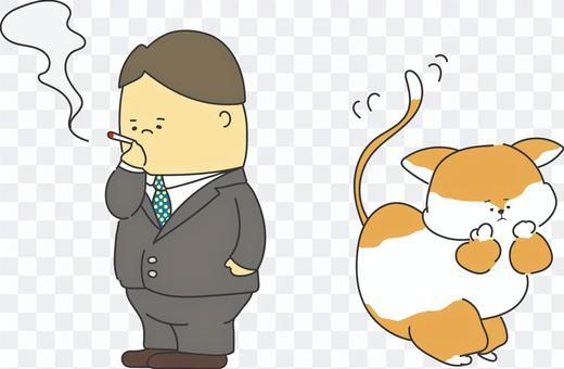 討厭吸煙者的貓