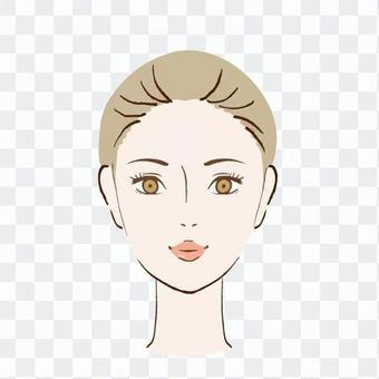 Smiling woman's face