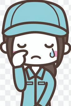 Women _ Working clothes 1 _ Crying upper body