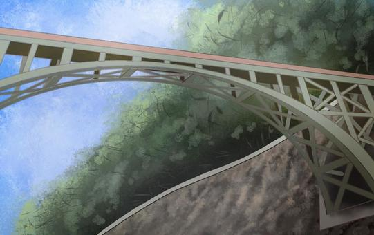 頭上にある鉄橋