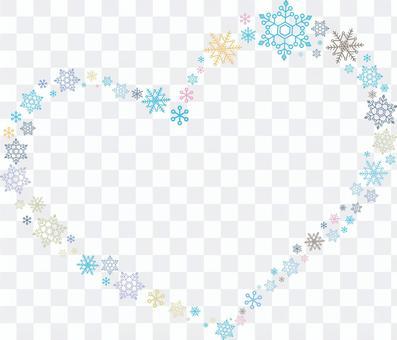 Snow Crystal Heart Blue