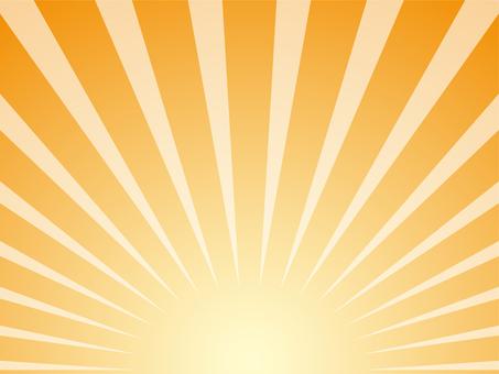 集中線下方的暖橙色背景