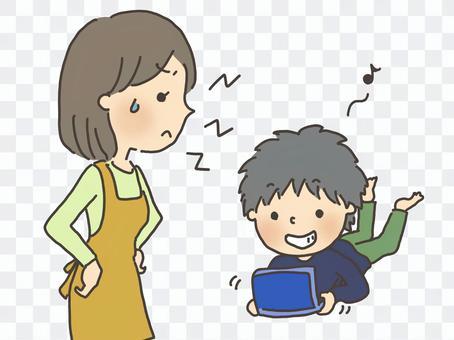 母親與兒子1