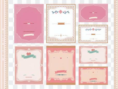 Valentine design card set