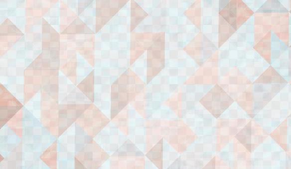 Triangular pattern background pink and blue