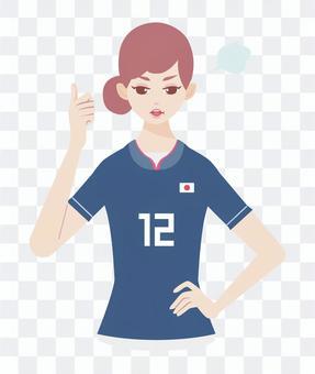 足球支持者憤怒的女人