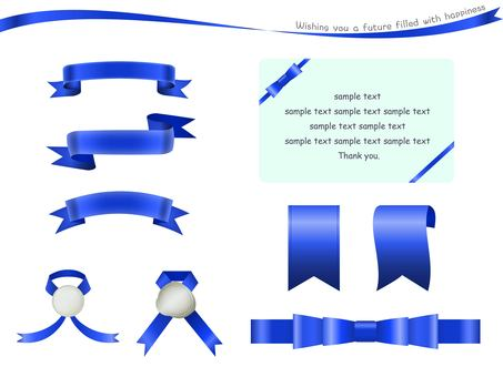 Blue ribbon and message card