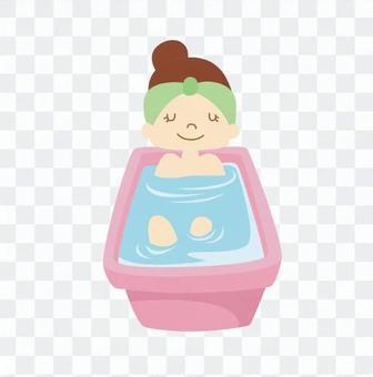 人们洗澡09