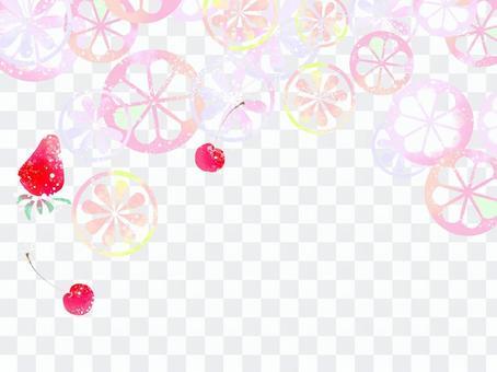 ピンクグレープフルーツとベリーの壁紙