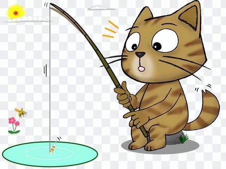 流浪貓_茶虎_釣魚_你上吊了嗎?
