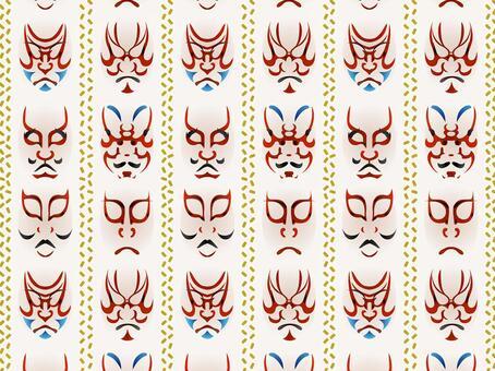 ai 3D Kabuki化妝圖案與色板