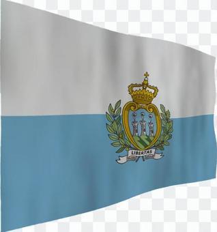 聖馬力諾的旗幟