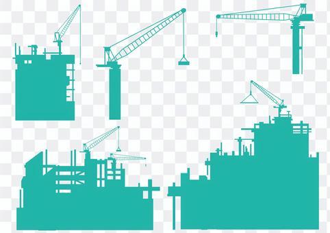 高層建築輪廓集