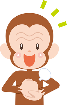 A monkey character who makes a move when he understands