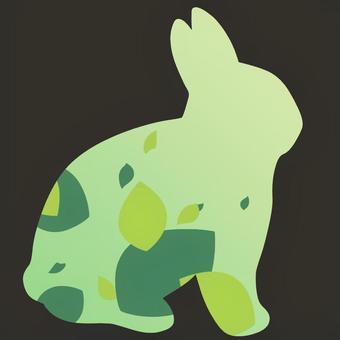 ウサギ型の夏なイメージ