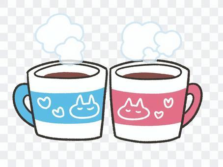 かわいいペアマグカップ