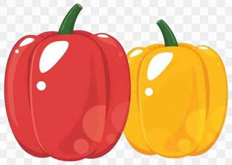 辣椒粉紅色和黃色