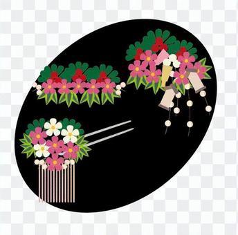 十二月Hanakanzashi