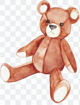 水彩熊毛绒玩具