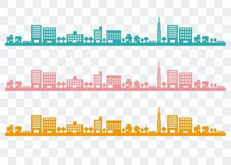 城市景觀_剪影線
