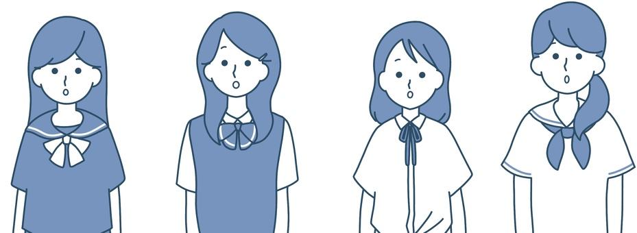 女高中生京都整潔的設計