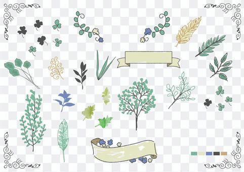 手繪材料036植物部位