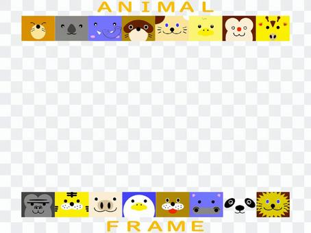 Animal frame frame print material character