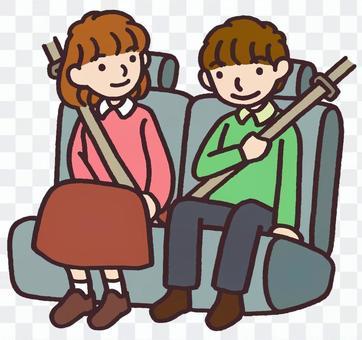後排座椅安全帶