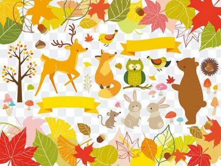 Illustration collection of autumn forest (9)