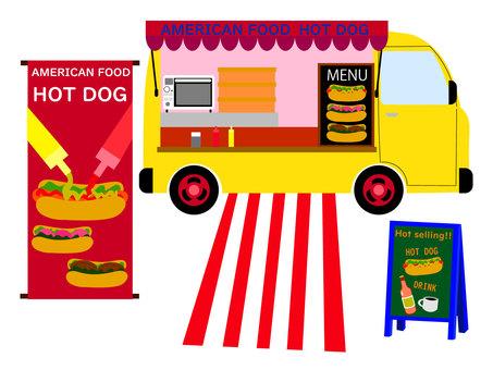 熱狗店廚房車移動售貨車