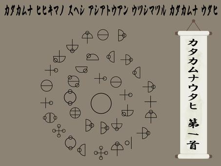Katakhamnautahi 第一頸螺旋圖,古代字符