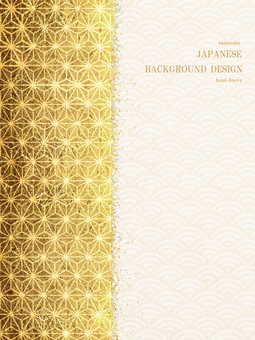 New Year's card Qinghai wave Japan background 46