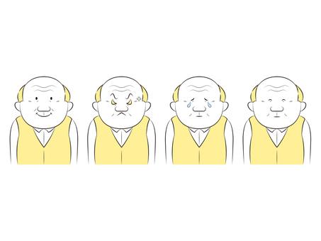 Emotions and sorrows senior men