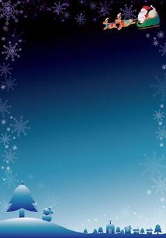 Christmas frame vertical A4