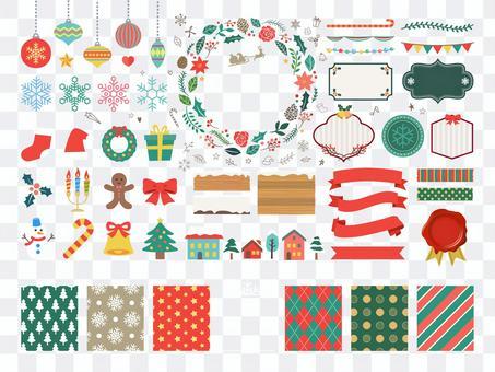 冬季框架圖標圖案裝飾