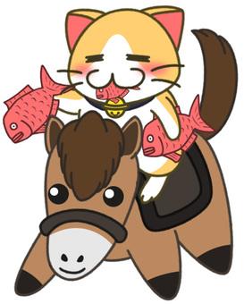 干支猫(馬)3