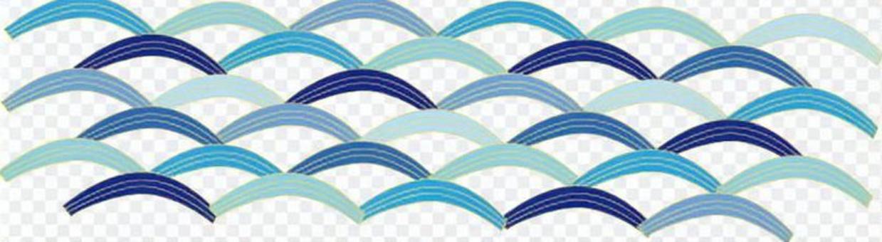 Blue Japanese style wave